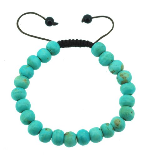Tibetan Turquoise-Colored Yak Bone Wrist Mala, Prayer Beads