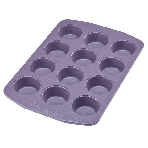 Paula Deen 12 Cup Nonstick Bakeware Muffin and Cupcake Pan, Lavender Speckle (Purple Cupcake Pan compare prices)