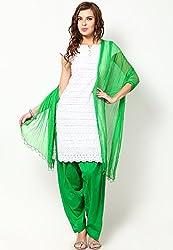 Castle Women's Salwar With Dupatta (Mehandi_Free Size)
