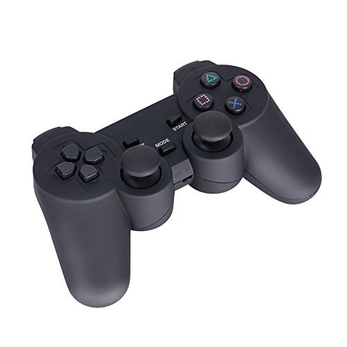 GHB Gamepad Wireless Controller Joypad USB 3-in-1 con Dual Vibrazione Plug & Play Compatibile con PS1/PS2/PS3 per PC WINDOWS 98/ME/2000/XP/VISTA/7 ecc - Nero