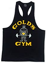 "G310 Golds Gym Workout Tank Top ""Old Joe"" Logo (M, Black)"