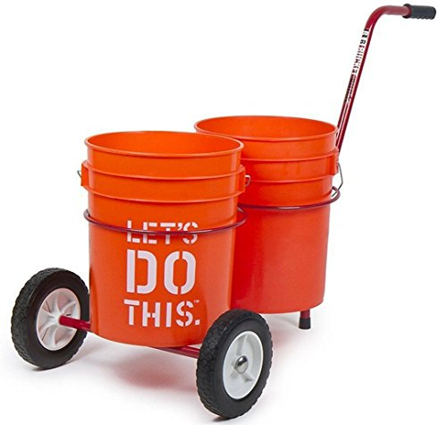 Bucket buddy cart easily carry two 5 gal buckets full of for 5 gallon bucket of paint price
