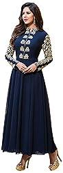 Ecoco Fashion Women's Unstitched Salwar Suit (Blue)