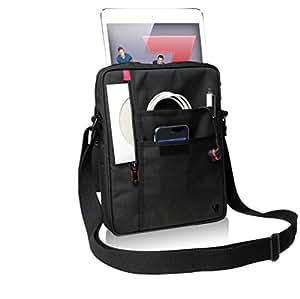"""V7 Premium Messenger Tasche / Tragetasche 25,4 cm (10.1 Zoll) für alle Apple iPad Generationen incl. iPad Air, sowie alle Tablets bis 10,1"""" wie Samsung Galaxy Tab, Samsung Galaxy Note, Asus memo, Acer Iconia, Sony Xperia, Goolge Nexus 10 (schwarz)"""