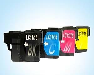互換インク brother LC11-4PK(BK/C/M/Y) 中身 ⇒ (LC11BK・LC11C・LC11M・LC11Y)
