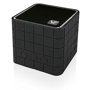 V7 SP5000 Portable Wireless aufladbarer Bluetooth Lautsprecher Cube für Smartphones, Tablet PC, Laptops, Ultrabook, mit Feisprechfunktion Schwarz