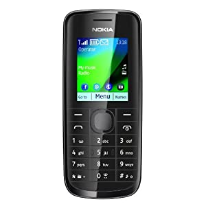 Nokia 113 Mobile Phone / O2 / Pay As You Go / PAYG / Pre-Pay - Black (with £10 airtime)