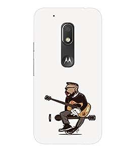 EPICCASE Guy with a guitar Mobile Back Case Cover For Moto Play (Designer Case)