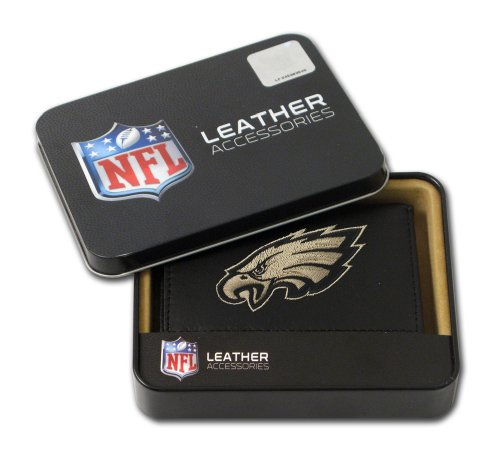 NFL Philadelphia Eagles Embroidered Trifold Leather Wallet at Amazon.com