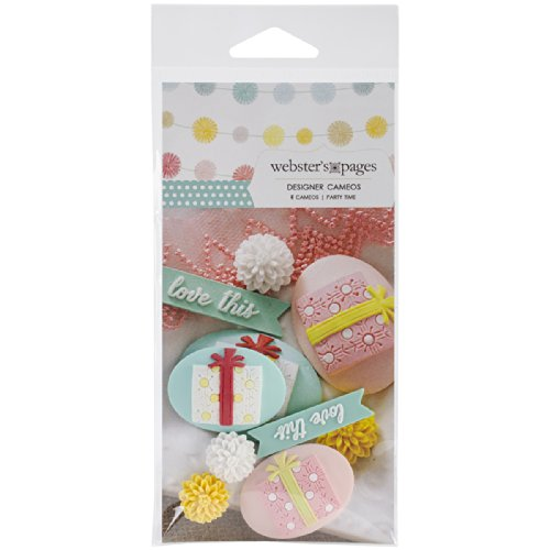 Webster's Pages CM5131 Variety Cameo Accent, Party Time, 5-Pack