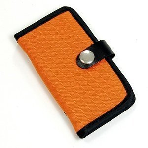 Memory Card Carrying Case / Wallet / Holder / Organizer / Bag - Storage for SD SDHC CF xD Camera Memory Cards (Orange)