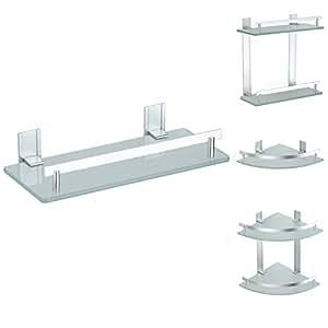 badablage eckregal duschregal wandregal badregal glasregal. Black Bedroom Furniture Sets. Home Design Ideas