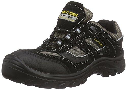 Safety Jogger JUMPER, Unisex - Erwachsene Arbeits & Sicherheitsschuhe S3, schwarz, (blk/blk/dgr 117), EU 47