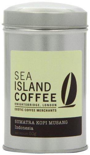 Sea Island Sumatra Kopi Musang Kopi Luwak Cafetiere/ Filter Coffee Tin 50 g