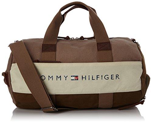 Tommy Hilfiger LANCE BM56924702, Borsa da viaggio a tracolla Uomo, Marrone (Braun (DESERT TAUPE / DARK OLIVE-PT 242)), 47x24x27 cm (L x A x P)
