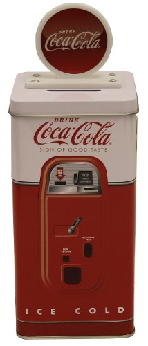 The Tin Box Company Coca Cola Tall Beverage Machine Bank (Money Vending Machine compare prices)