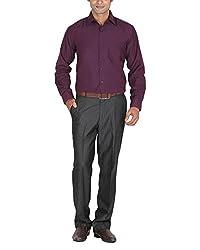 LAGNESH Men's Long Sleeve Shirt (Purple, 44)