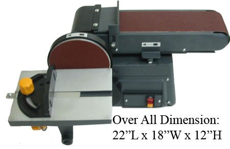 Heavy Duty 4 X 6 Belt Disc Sander Table Bench Top 0 45 B000t9q6hs