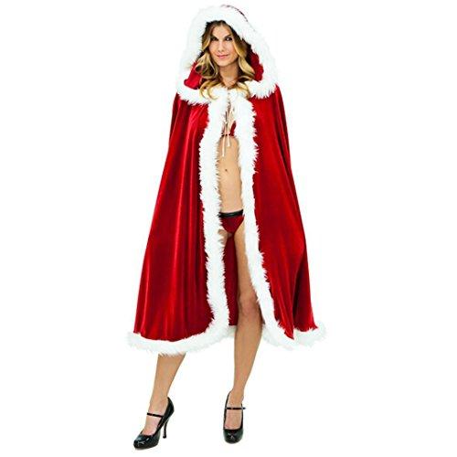 Moon mood® Christmas Natale abbigliamento decorazioni adulti decorazione di Natale Red Coat cappotto incappucciato Accessori vacanza Red sexy Decoration Clothing Adults Christmas Decoration Coat Red Hooded Coat Sexy Red Holiday Accessories