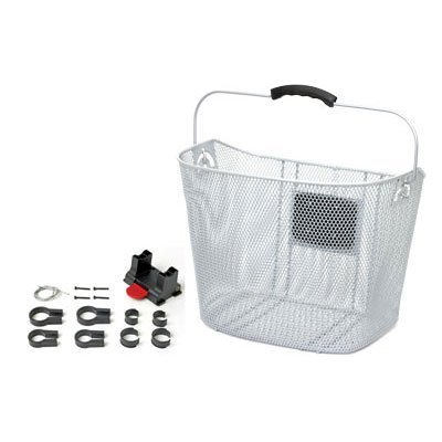 Sunlite 25.4/31.8 QR Bicycle Wire Basket - Silver