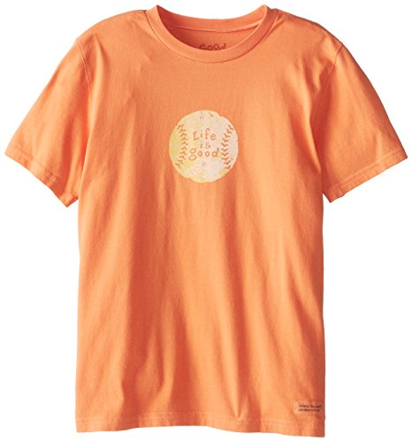 Life Is Good Boy'S Crusher Vintage Baseball T-Shirt, Juicy Orange, Medium front-883877