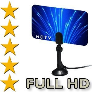 Buy Digital Flat Thin Leaf Tv Antenna HDTV Antenna UHF/VHF FM Radio