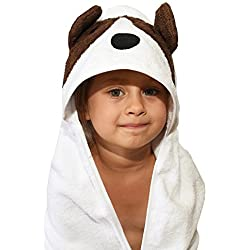 Plovf Dog Baby Towel - Premium Soft and Absorbent Cotton Hooded Towel for Girls and Boys