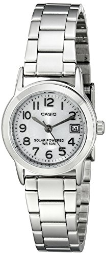 Casio Women's LTP-S100D-7BVCF Easy-To-Read Solar Stainless Steel Watch
