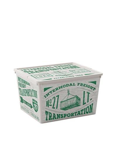 Kis Set Contenitore Organizzazione Spazi 6 pezzi C-Box Cube Verde/Bianco