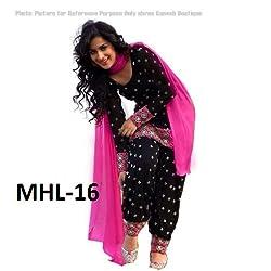 Subhash Sarees Party Wear Black Color Cotton Dress unstitched dress material