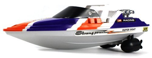 Velocity Toys Super Tiger Yacht Electric Rc Speed Boat Full Function Rtr Ready To Run, Perfect For Pools, Ponds, Lakes, Rivers, Etc