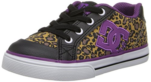 Dc Chelsea Skate Shoe (Toddler),Black/Purple,5 M Us Toddler front-960324