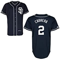 Everth Cabrera San Diego Padres Alternate Navy Replica Jersey by Majestic by Majestic
