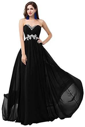 Sunvary Sweety Chiffon Bridesmaid Party Dresses with Rhinestones Long at Amazon Women's Clothing