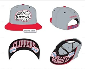 Mitchell & Ness Los Angeles Clippers Under Visor Logoed Snapback Cap Hat by Mitchell & Ness