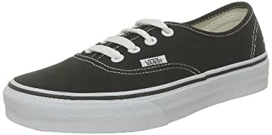 Vans U Authentic Vee3blk, Baskets mode mixte adulte - Noir (Black/White), 35 EU