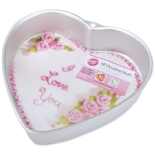 Wilton 9 Inch Heart Pan (Heart Shaped Cookie Pan compare prices)