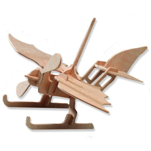 3-D Wooden Puzzle - Small Seaplane Model -Affordable Gift for your Little One! Item #DCHI-WPZ-P003