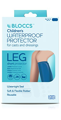 Bloccs - Fasce di protezione per gambe ingessate, per bambini, 10-14 anni, misura: L