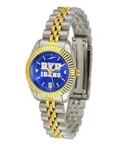 BYU Brigham Young University Ladies Gold Dress Watch