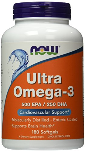 Now Foods Ultra Omega 3, Fish Oil Soft-gels, 180-Count (Fish Oils Omega 3 compare prices)