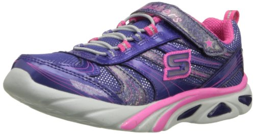 Skechers Kids 10374L Lite Gemz Tennis Shoe,Purple/Pink,2 M Us Little Kid
