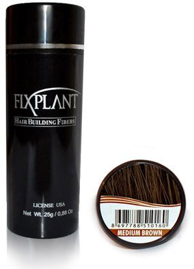 FIXPLANT Keratin Hair Building Fibers Medium Brown