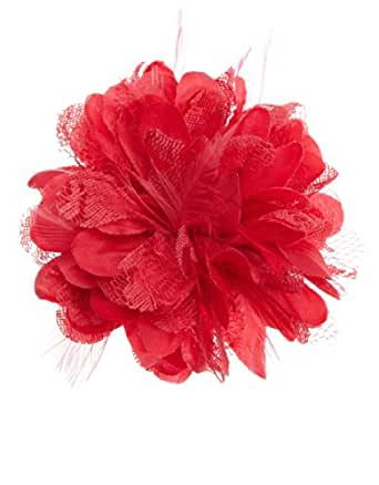 Monsoon Filles Barrette en forme de fleur en dentelle duveteuse Taille Taille unique Rose
