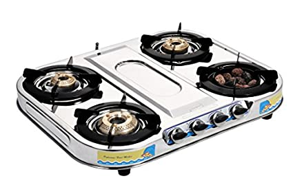 Sunshine Sunshine Meethi Angeethi Glass Gas Cooktop (4 Burner)