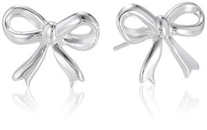 Sterling Silver Bow Post Earrings