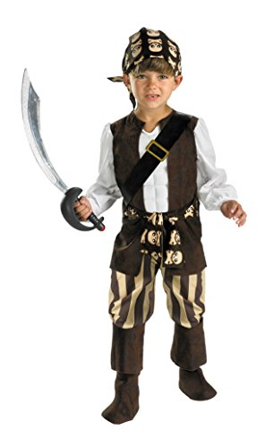 Boys Rogue Pirate Kids Child Fancy Dress Party Halloween Costume