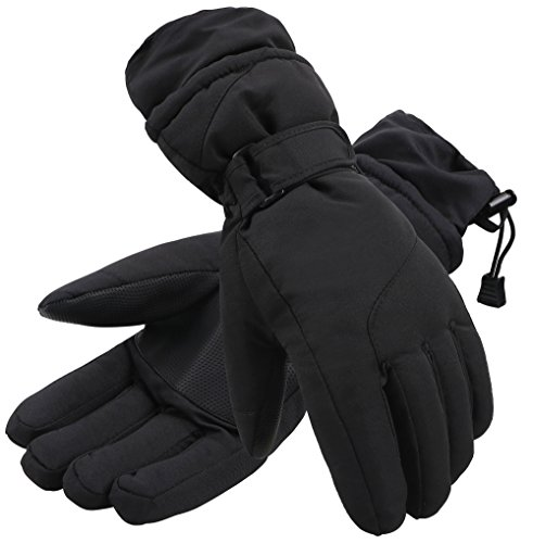 Simplicity Women's 3M Thinsulate Waterproof Outdoors Ski Gloves,S,Black (Ski Inserts compare prices)