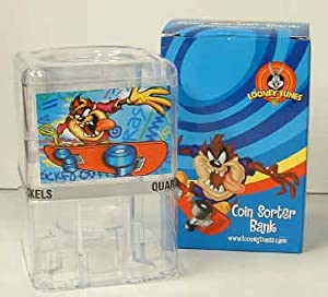 Looney tunes taz coin sorter bank toys games Coin sorting bank for kids