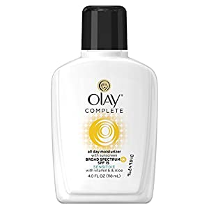 Olay Complete All Day Moisturizer With Sunscreen Broad Spectrum SPF 15 - Sensitive, 4 fl. Oz.